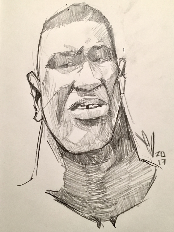 Iron Mike boxing sketchbook pen - evandileo | ello