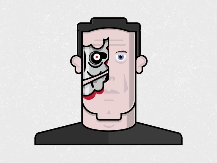 Terminator illustration charact - jackgdesign   ello