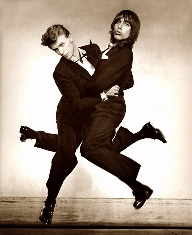 David Bowie Iggy Pop 1970s - danborra | ello