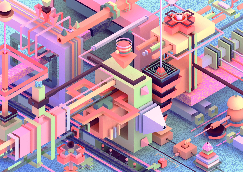 3.07 3D / abstract illustration - ikiste | ello