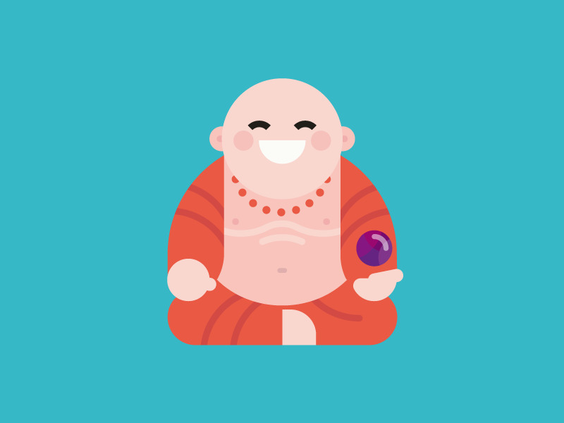 Laughing Buddha :D illustration - dannygreaves | ello