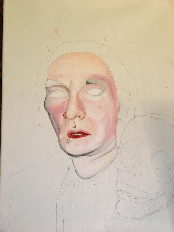 oil paint portrait andywarhol s - theleggyblonde | ello