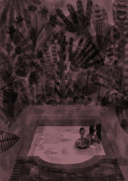 illustration jungle jacuzzi - manifico | ello