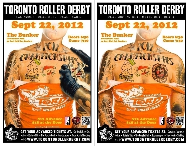 Toronto Roller Derby Championsh - johnperlock_illustrator | ello