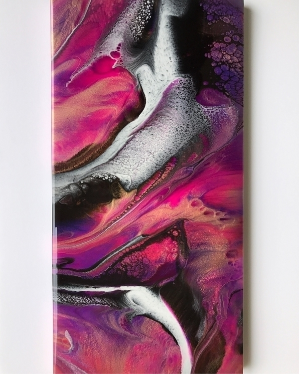 "12""x24"" resin painting - rrizzy 