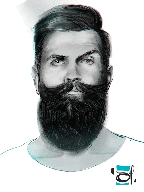 sketch illustration portrait be - douglasmoreira | ello