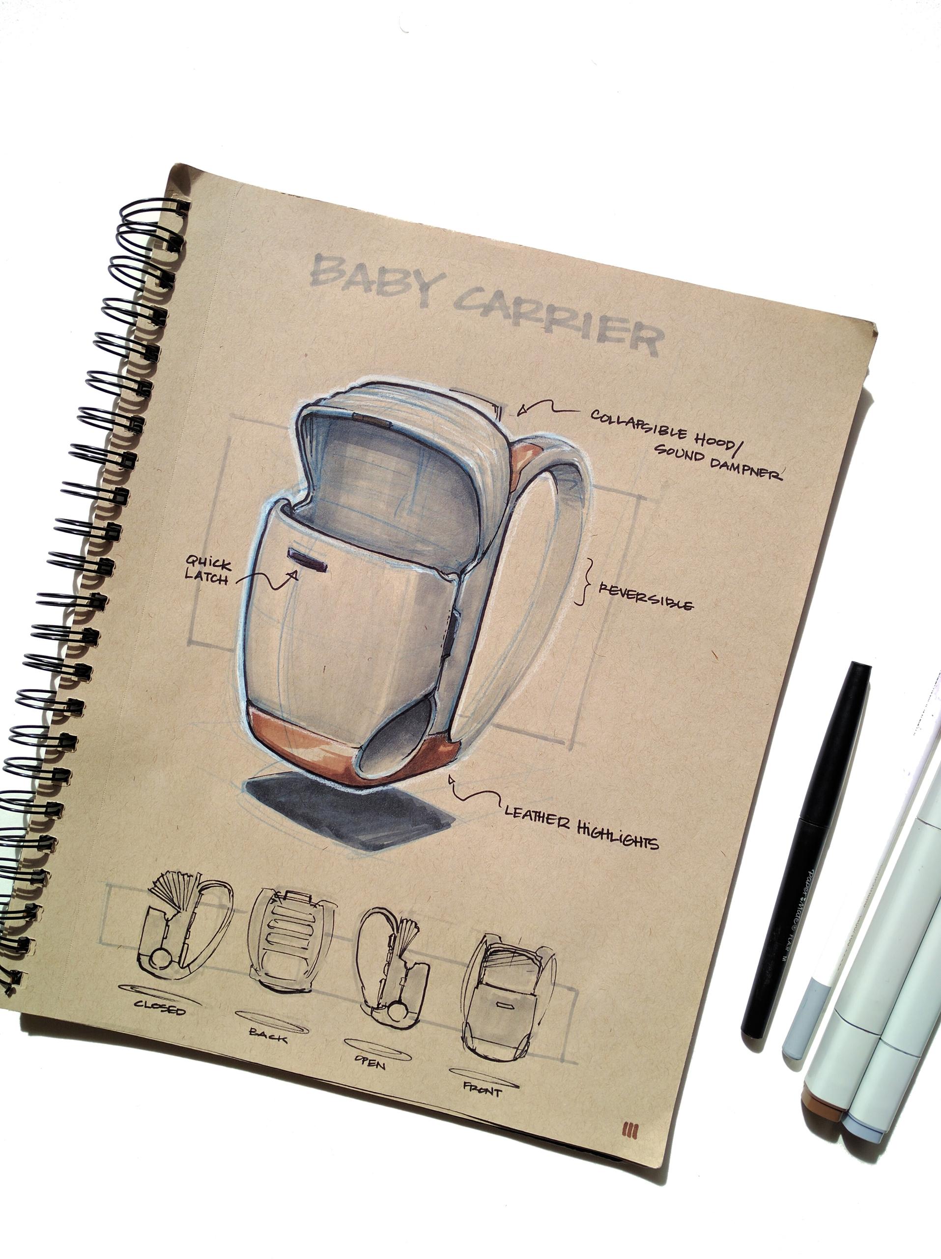 Baby Carrier Sketch industriald - matt-marchand | ello