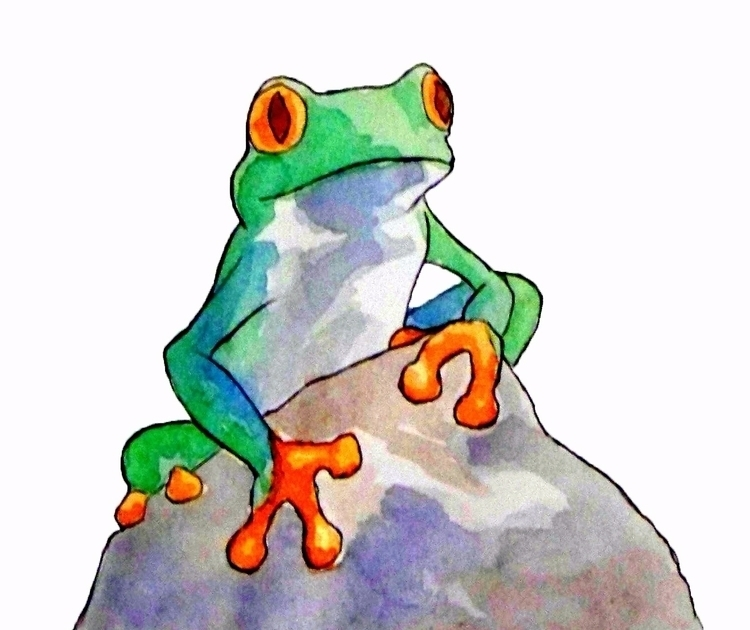 Because frogs art ink sketch sk - todrawtoday | ello