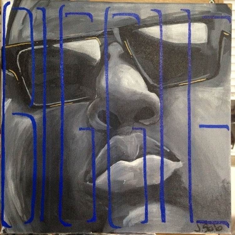 Acrylic painting Notorious BIG. - jennsolo | ello
