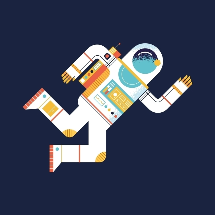A – Astronaut illustration scie - dannygreaves | ello