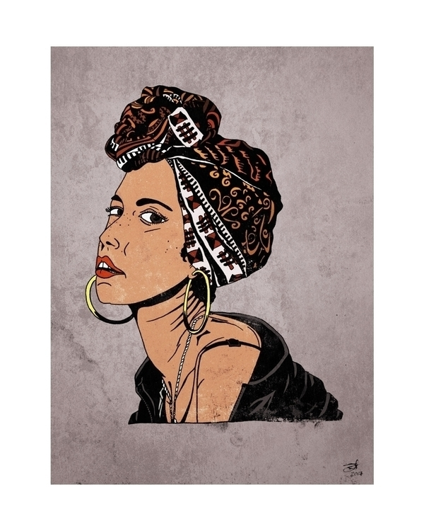 Alicia Keys illustration drawin - jeffwalters | ello