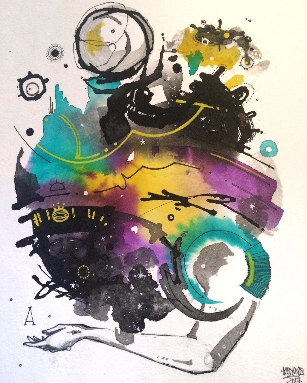 """Manifestation"" 8x10 Watercolor - awake_pdx   ello"