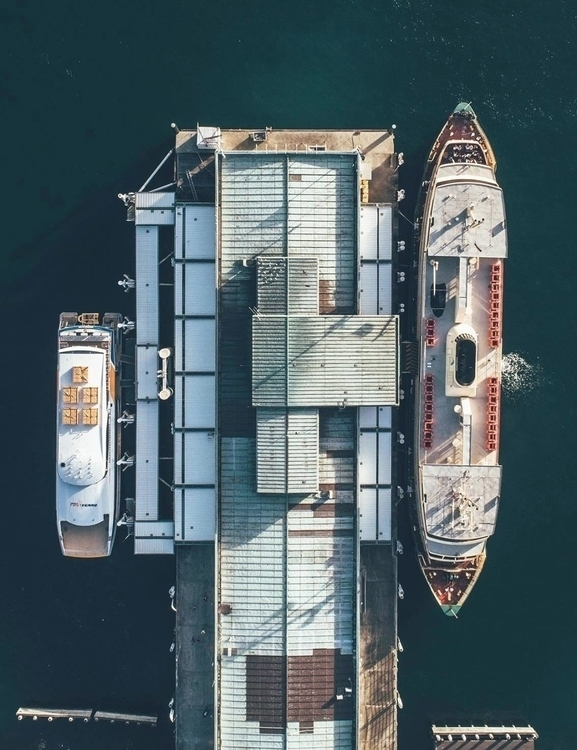 Manly Wharf glory! - droneman | ello