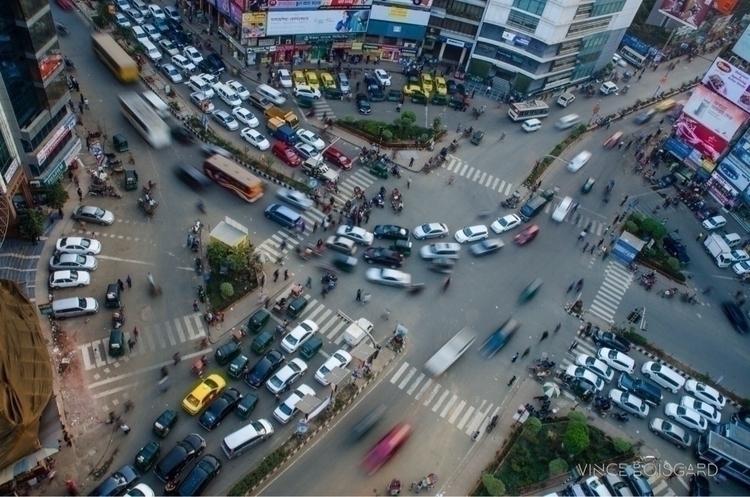 From top Gulshan 2, traffic jam - vinceboisgard   ello