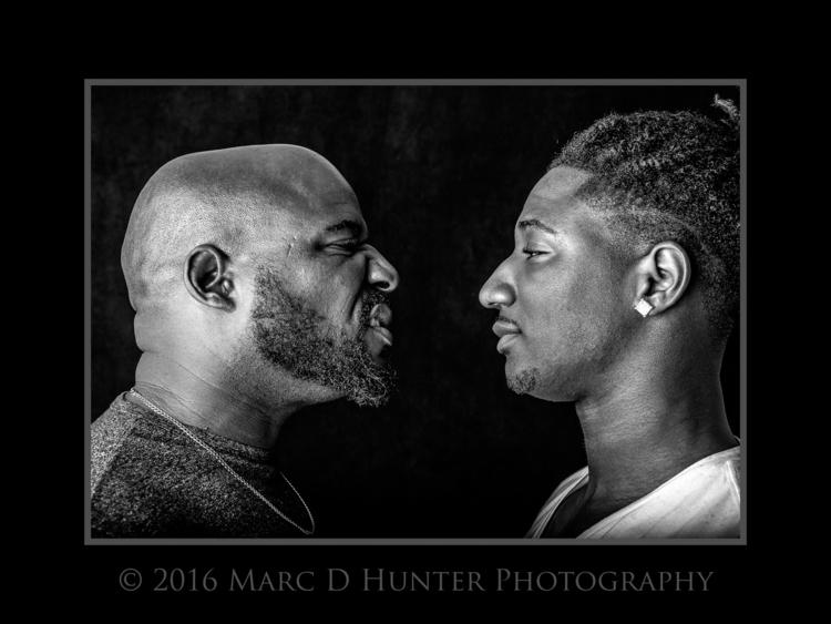 Father Son portrait blackandwhi - mdhphoto | ello