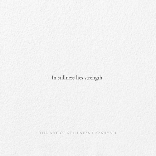 The art stillness 01 / In lies  - kashyapi | ello