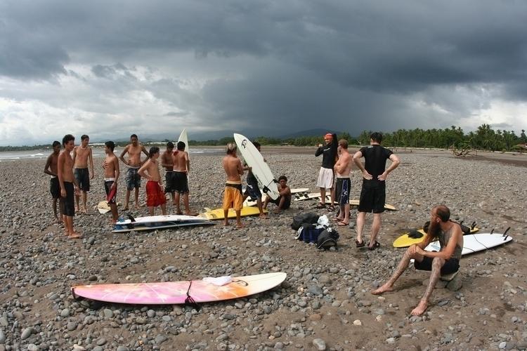 crew meets locals. Costa Rica,  - 1975ish | ello