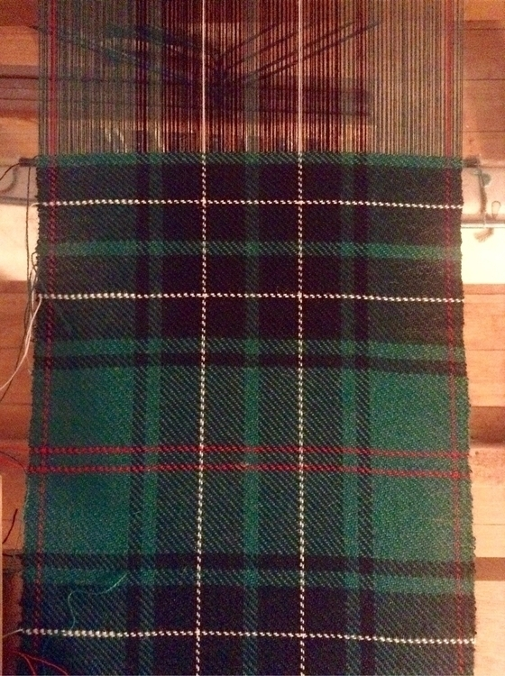 green! tartan weaving loom text - valentinacano | ello