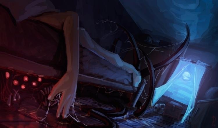 bed. dailypainting room underth - david-rivera | ello