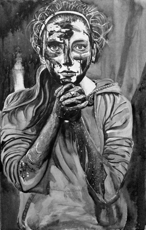 Acrylic watercolor canvas, life - benjaminzayasgallery | ello