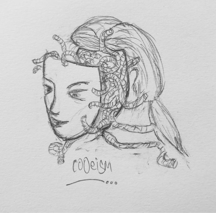 Medusa illustration drawing ske - cooeism   ello
