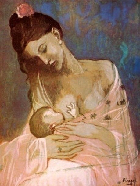 Pablo Picasso: Maternity, 1905. - eugfra | ello