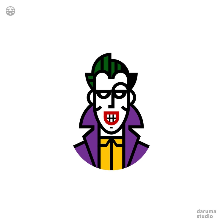 Funny Guy Joker works side Batm - daruma_studio | ello