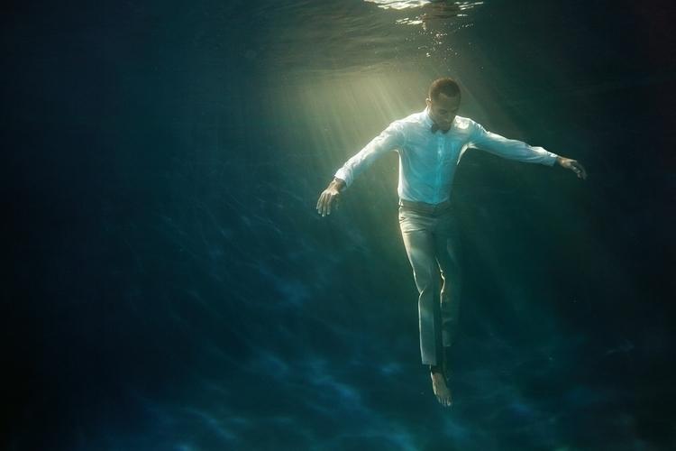 Blue Rebecca Handler underwater - rebeccahandler | ello