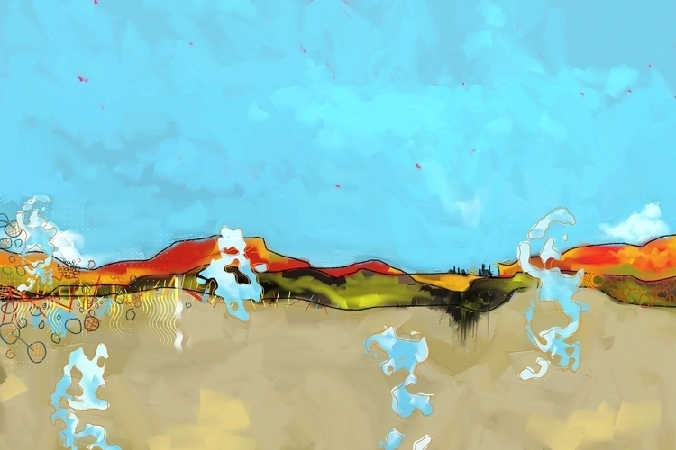 Abstract landscape created artr - lobber66 | ello