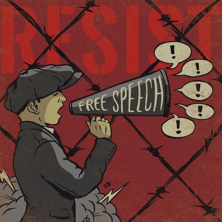 Resist illustration - thomcat23 | ello
