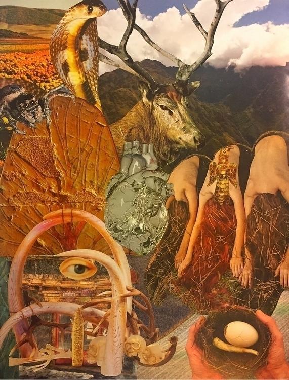 """Earth Magic"" collage Bonnie Cu - arcanememory | ello"
