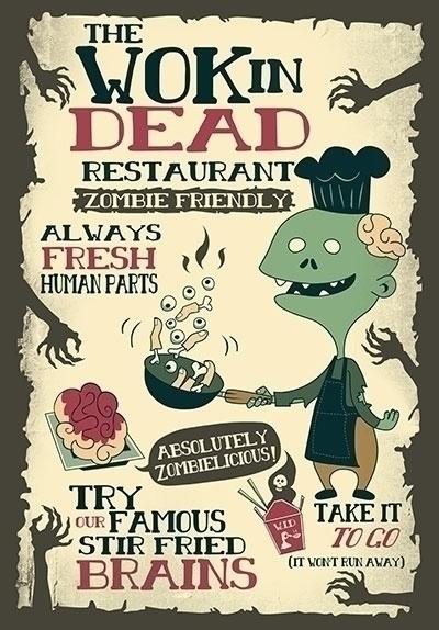 "Wok Dead"" restaurant! Enjoy zom - anishacreations | ello"