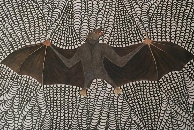 """Emerge"" Bat Medicine Collage/I - arcanememory   ello"