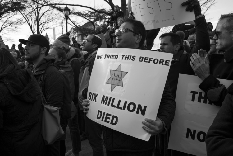 Anti-Immigration Ban Protest, N - giseleduprez   ello