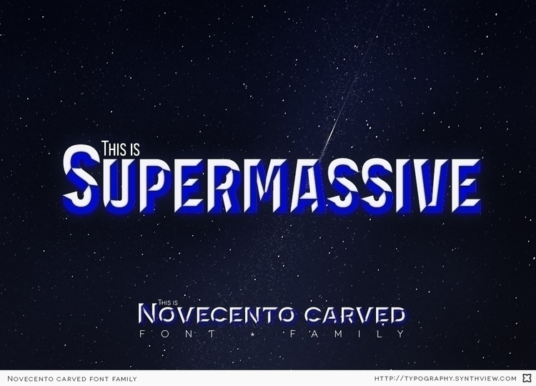 supermassive. Novecento Carved  - synthview | ello