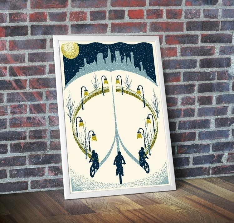 ARTCRANK winter biking poster,  - coreysweeter | ello