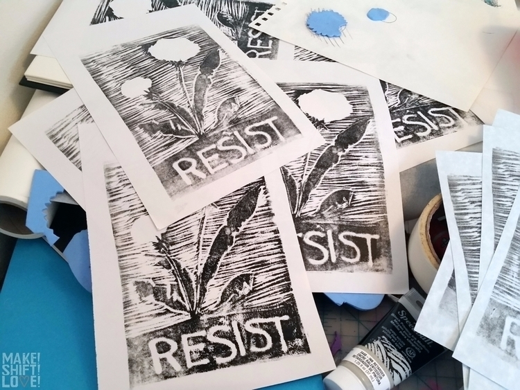 quick prints paper town RESIST  - makeshiftlove | ello