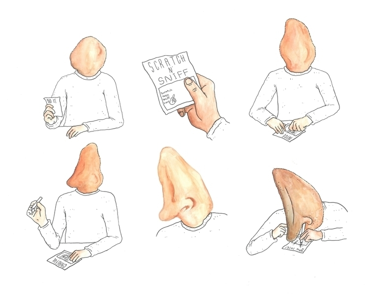 Follow nose illustration waterc - bryceaspinall | ello