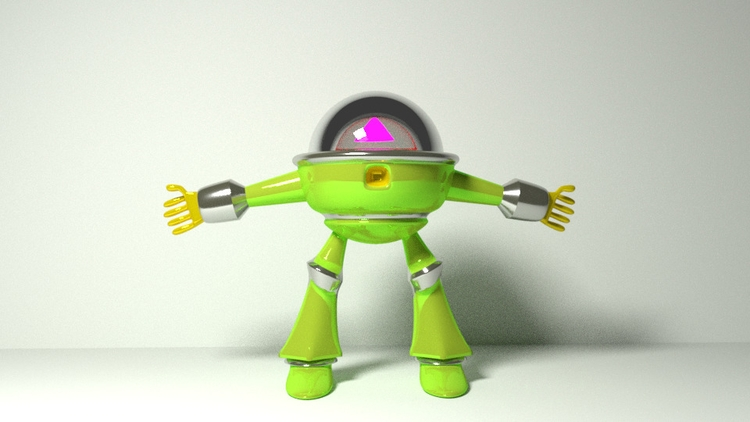 Mecha-Man robot 3d blender3d co - fabulousrice | ello