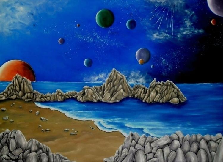 NewOnEllo OilPainting art fanta - fayeanastasopoulou | ello