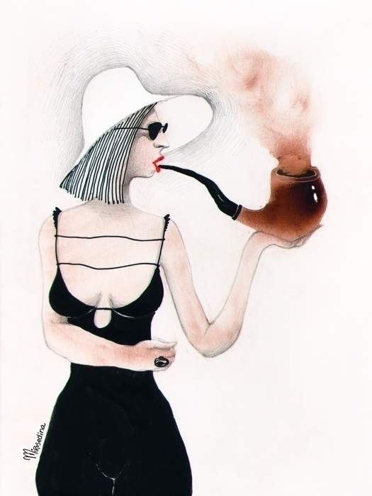smoke break heat* graphic miros - mirosedina | ello