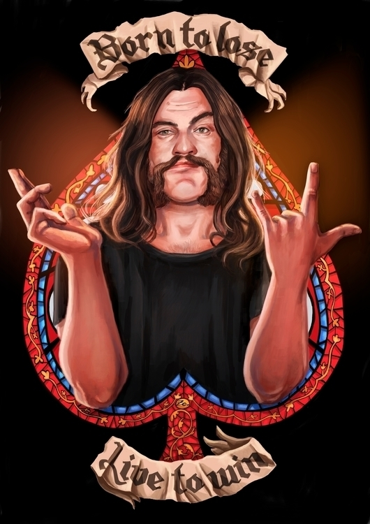 tribute Lemmy. illustration car - zoraida_zaro | ello