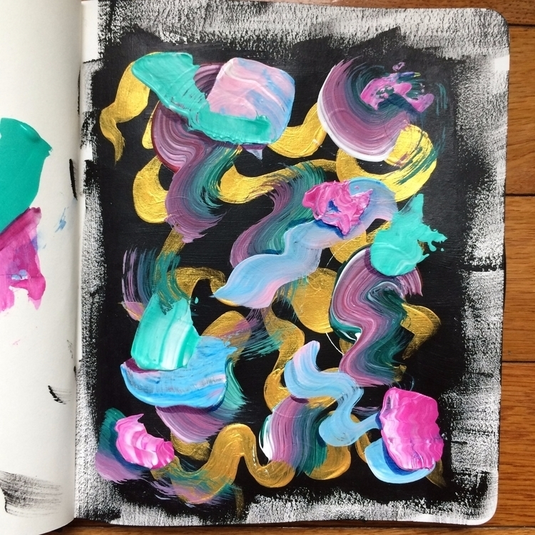 sketchbook painting night abstr - dhuston | ello