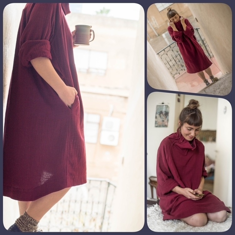 Soft cosy loose fit dress - hol - haptic_path | ello