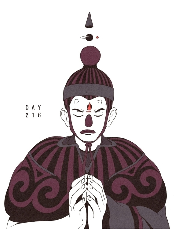 Day 216/365: Prayer... illustra - 1sles | ello