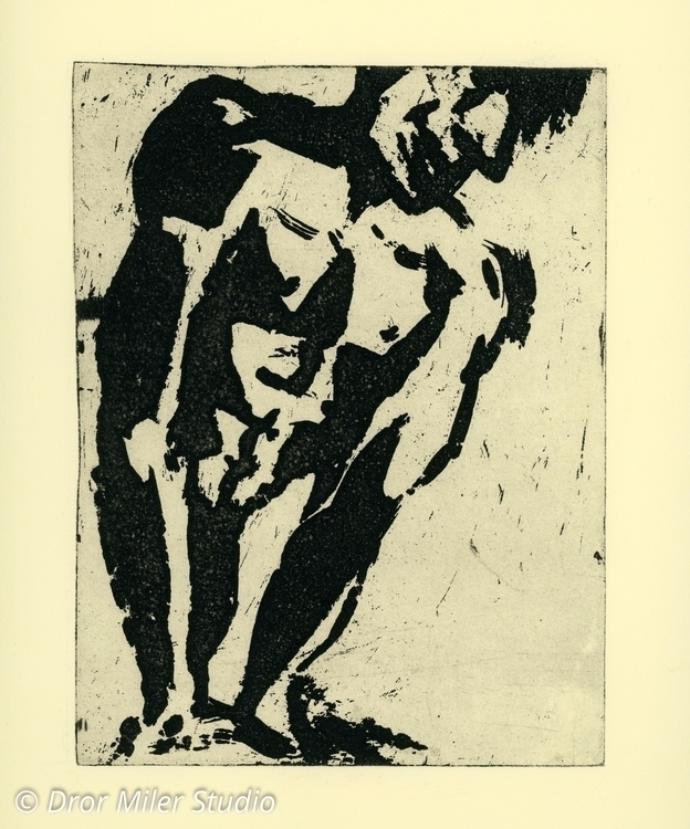 Etching sugarlift Aquatint male - drormiler | ello