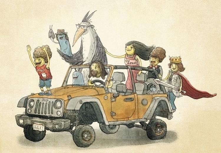 Standing Jeep days cheap, peep  - junkyardsam | ello