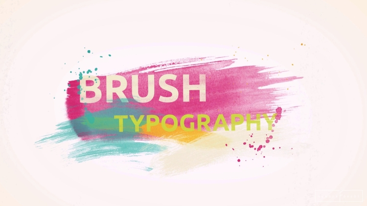 Brush Typography artistic bold  - renderforest | ello