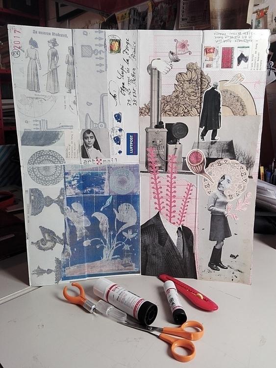 art mail collage collaboration  - olga_lupi   ello