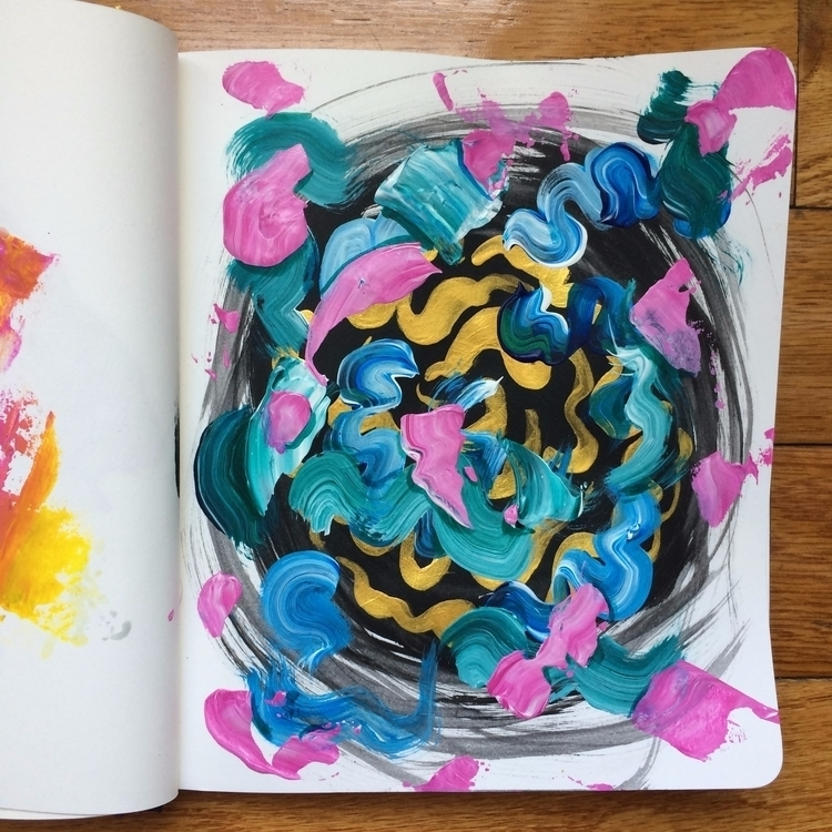 sketchbook art abstract gold - dhuston | ello